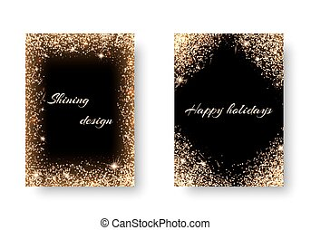 Set light background - Glitter background for festive...