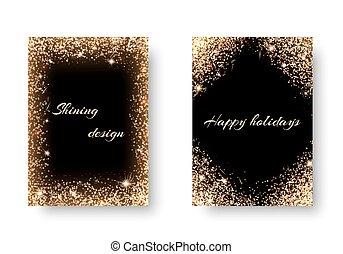 Set light background - Glitter background for festive...