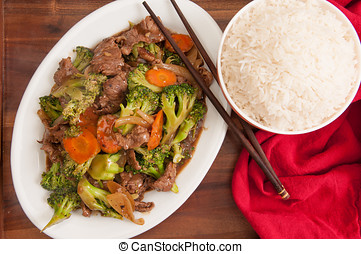 beef with broccoli - home made stir fry beef with broccoli