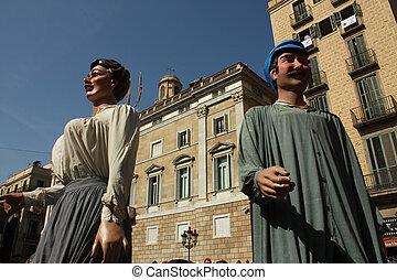 tradicional,  Barcelona, gigante, fiestas