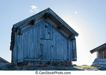 very old boathouse - a very old boathouse made of wood...