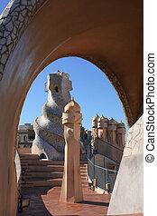 Barcelona and Gaudi. Casa Mila