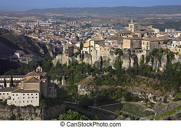 Cuenca - La Mancha - Spain - Overview of the city of Cuenca...