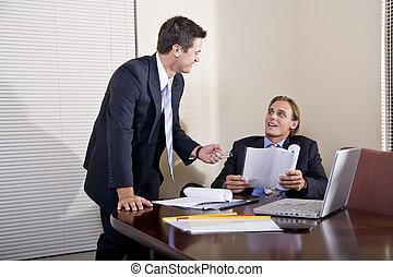 工作, 二, 一起, 衣服, 商人, 會議室