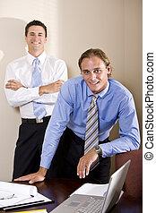 會議室, 一起, 二, 工作, 商人
