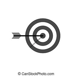 Target icon. Symbol in trendy flat style isolated on white...