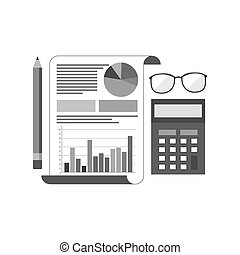 Accounting concept icon. Symbol in trendy flat style isolated on white background.