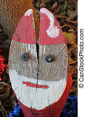 Santa Claus in wood
