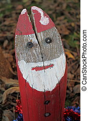 Santa Claus in wood