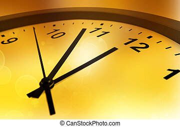 Clock  - Hands of clock pointing to midday