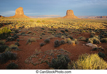 Monument valley landscape in USA - Scenic view of Monument...