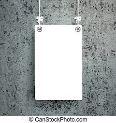 White Board Concrete - White board on the concrete...