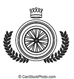 Isolated bike wheel design - Bike wheel icon. Vehicle...