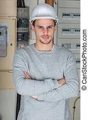 establishment electrician posing