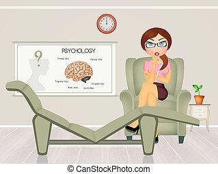 Psychologist study - illustration of Psychologist study