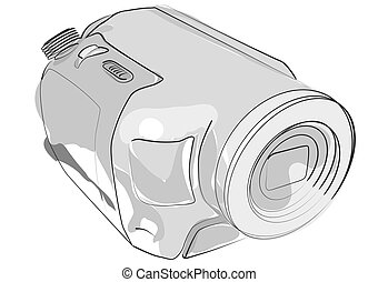 abstract camcorder on white - abstract camcorder isolated on...