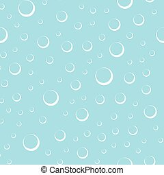 Air bubbles in water seamless pattern