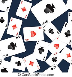 Aces playing cards seamless pattern