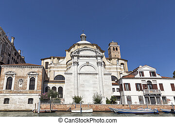 San Geremia church in Venice, Italy. - San Geremia church on...