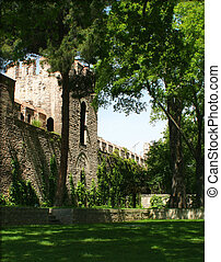 Next To The Topkapi Palace Walls - A green place next to the...