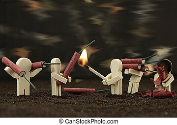 Carefully deal with fireworks - it's dangerous