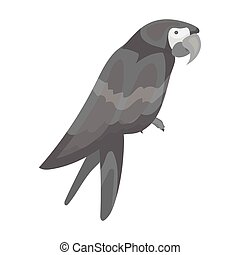 Pirate's parrot icon in monochrome style isolated on white background. Pirates symbol stock vector illustration.