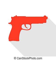plano, estilo, Ilustración, arma de fuego, señal, sombra,...