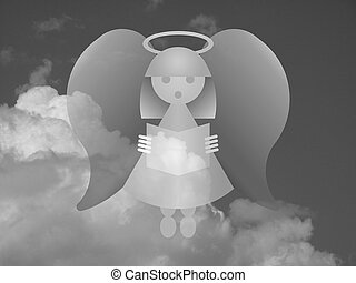 Heavenly Angel - Monochrome representation of an angel...