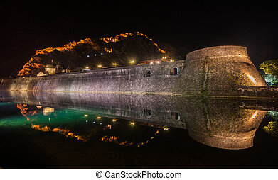 Kotor City Wall Fortifications, Montenegro - Kotor fortress...