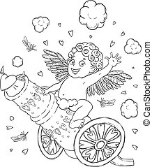 DIVERTENTE, cupid-boy, valentine, cannone, sparo, giorno,...