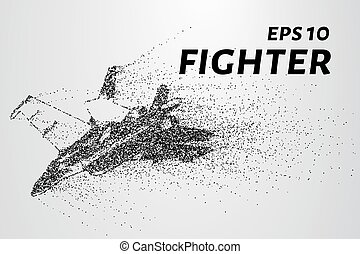 Fighter of the particles. The plane is the curve composed of...
