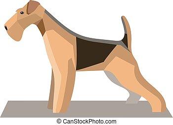 Terrier minimalist image1 - Terrier minimalist image on a...