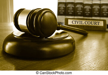 Civil court gavel