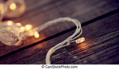 LED bulb of a Christmas garland