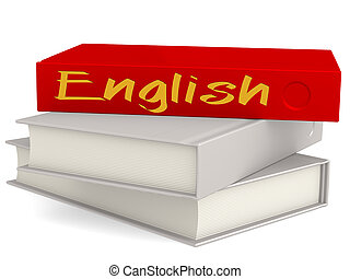 Hard cover books with English word