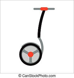 Segway vector icon - Alternative transport vehicle segway...
