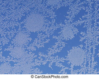 frost ice crystal on window background pattern