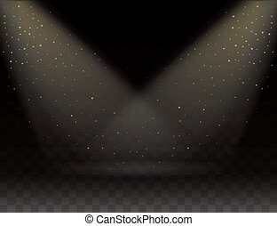 Spotlights scene. vector - Spotlights scene, Two rays of...