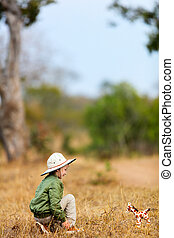 Little girl on safari