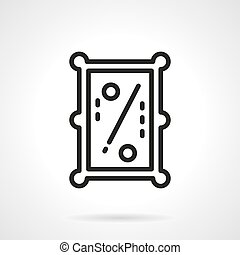 Pool table simple line vector icon - Abstract symbol of pool...