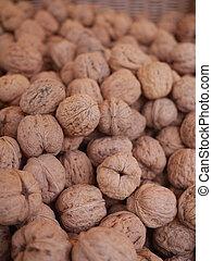 walnuts market organic - organic grown walnuts at a farmers...