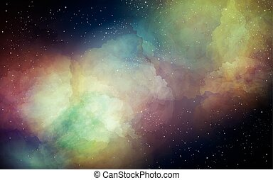 colorful night sky - night sky in a colorful space...