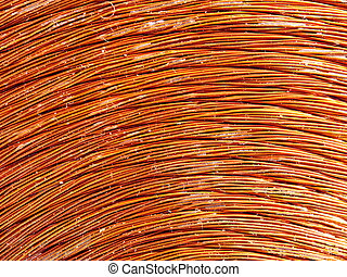 copper inductor metal - Macrodetail of a copper inductor in...