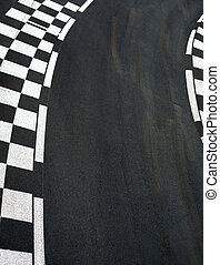 Car race asphalt on Grand Prix street track - Car race...