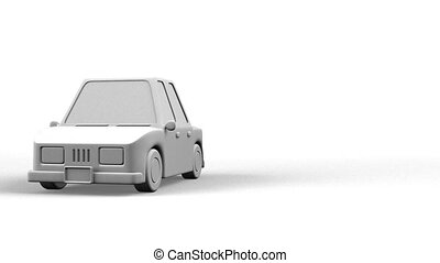 Car On White Text Space.