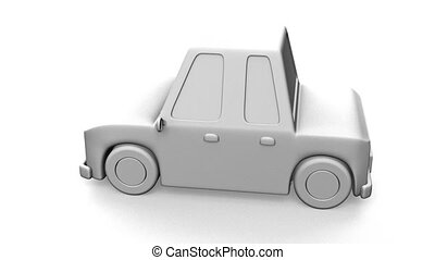 Car On White Background.