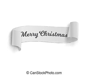 Marry Christmas Vector Banner Template Isolated -...