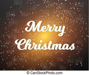 Merry Christmas Poster Template - Illustration of Merry...