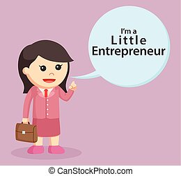 little business woman with callout