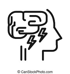 mental exhaustion illustration design